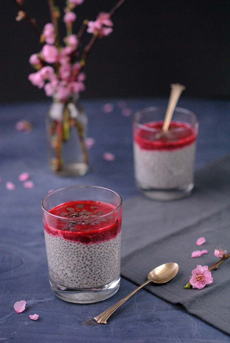 chia pudding mit himbeerso e happy planties. Black Bedroom Furniture Sets. Home Design Ideas