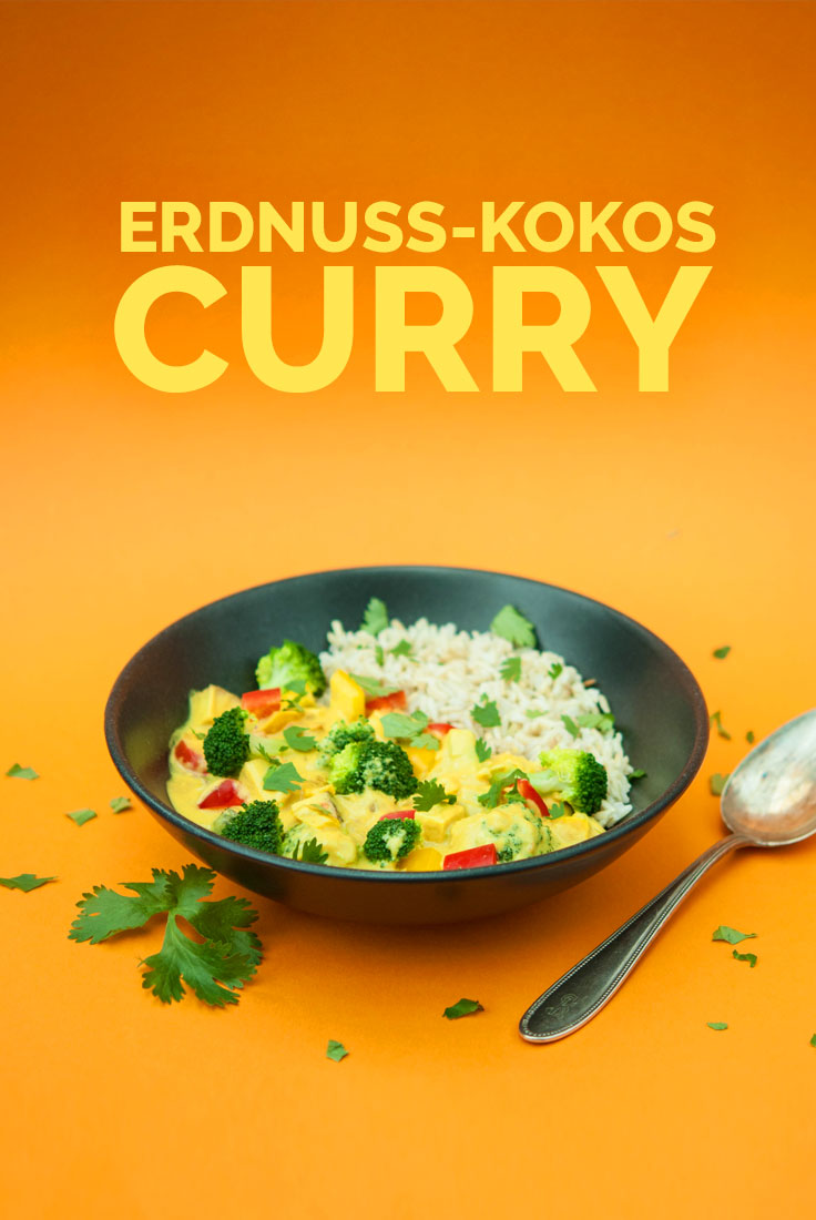 Erdnuss-Kokos-Curry vegan